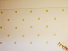 【子供部屋】水玉の壁。
