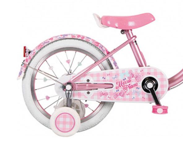 【メゾピアノ】新商品の自転車がリボン柄でとても可愛かった。