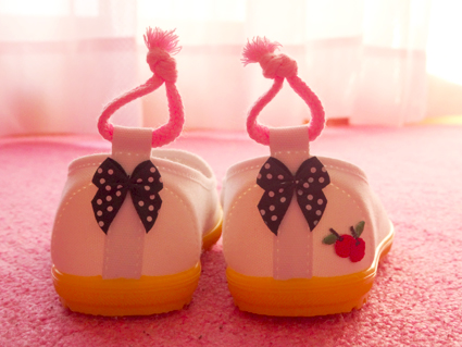 【幼稚園】お弁当のピーマンと新しい上靴のプチリメイク。