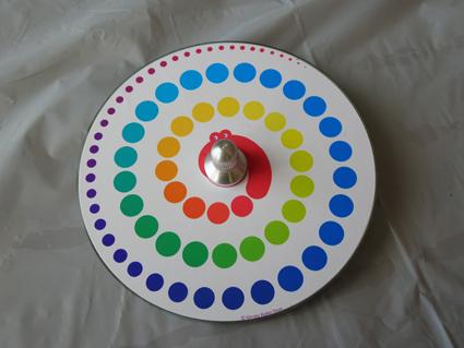 【色遊びCD独楽】色を楽しめるCDコマが面白い!!オリジナルコマも簡単に作れたよ。