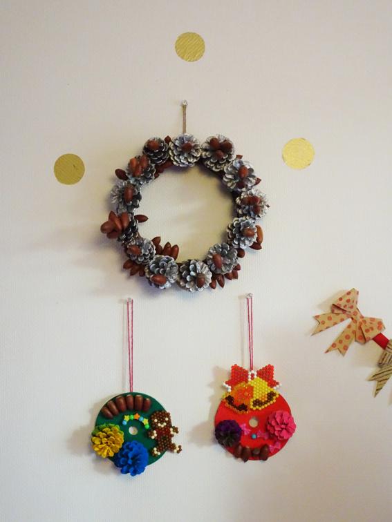 【クリスマス工作】5歳の娘と作る簡単クリスマスリース。