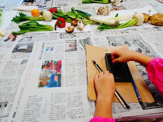 【造形教室】初めての墨絵と今年のカレンダー。