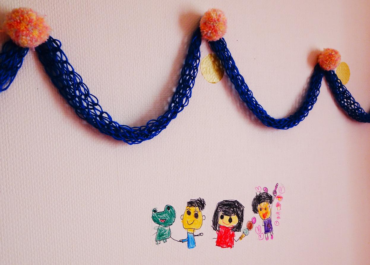 【子供部屋】まるで壁にお絵かきしたみたい!!『mt CASA』で作る手作りウォールステッカーで子供の絵を飾る。