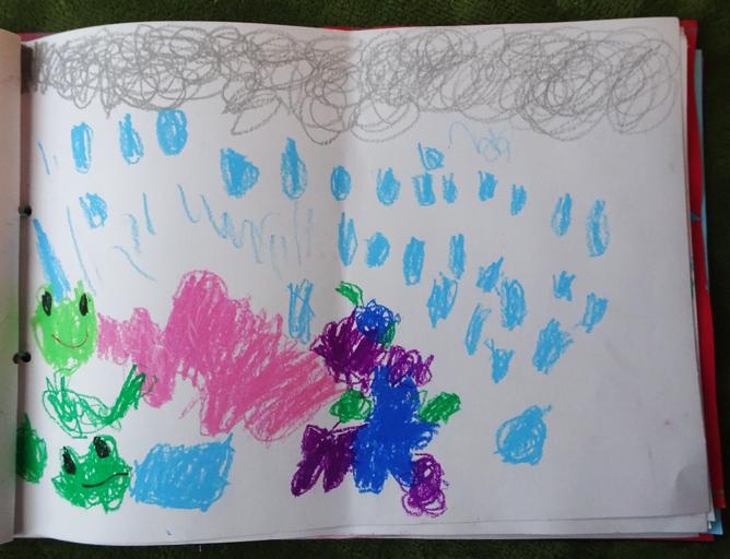 【幼稚園】園から持ち帰った作品集を眺めながら画力の成長を感じる。【年中】