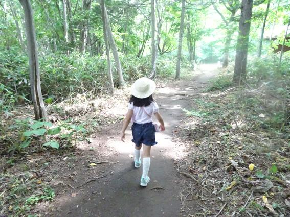 真夏の散歩。レクの森に向かったところ…