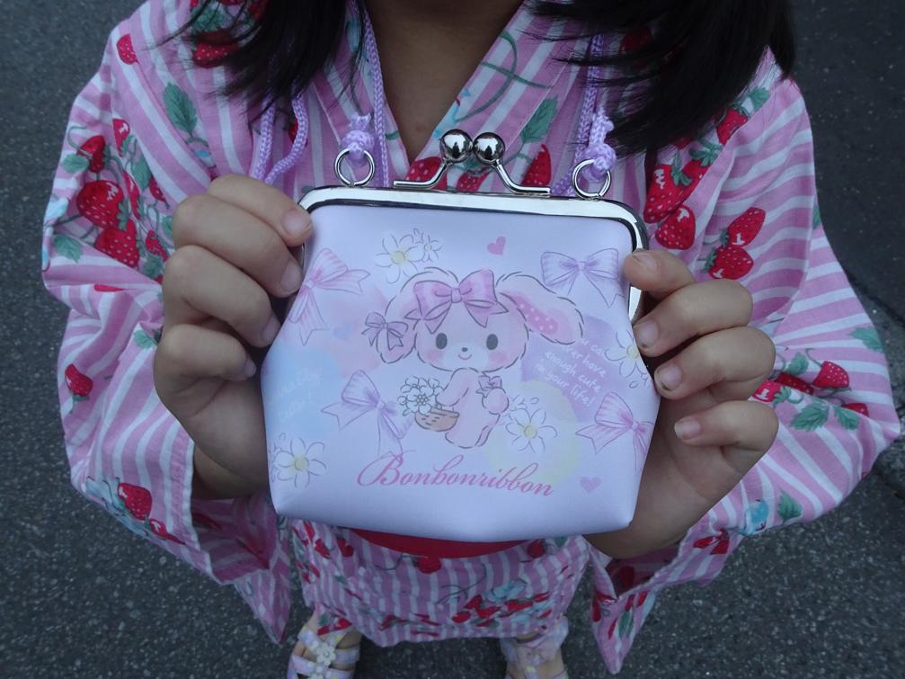 6歳の娘との夏祭りと娘の財布を新調。紐付き首かけの財布は使いやすかった。