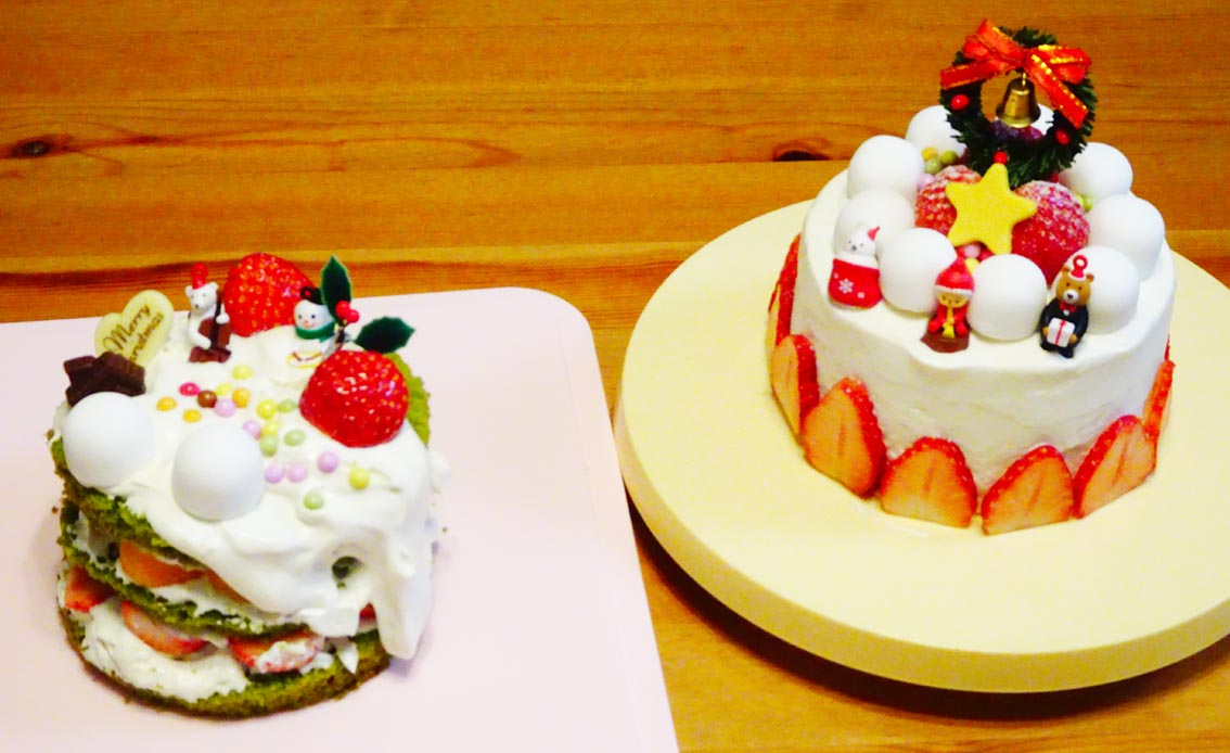 今年もやっぱりクリスマスケーキは2つ。5歳の娘と楽しむケーキ作り。