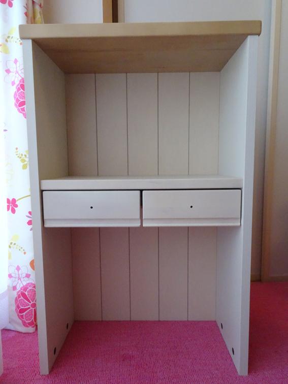 【子供部屋収納】学習机とお揃いのシリーズ、イトーキ『カモミール』の棚を購入しました。【年長4月】