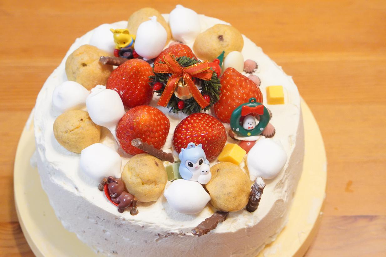 【クリスマス】イブのディナーと娘の手作りクリスマスケーキ。【2020年】