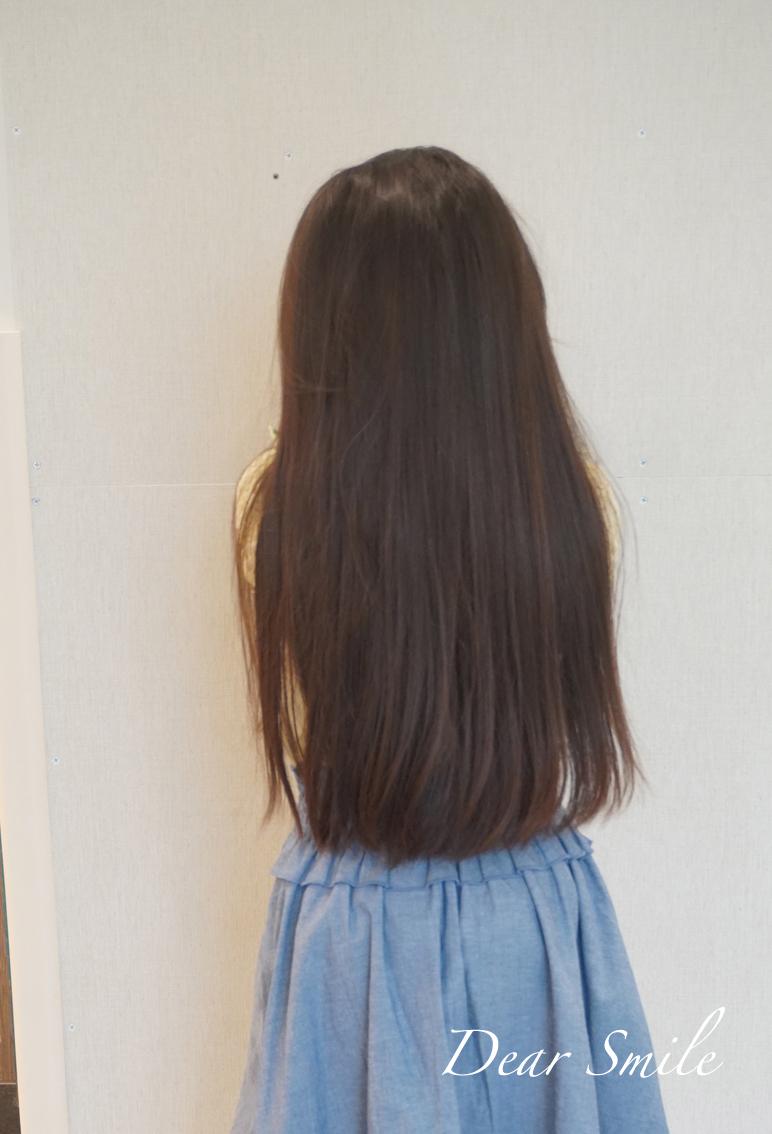 25cmのヘアーカット。